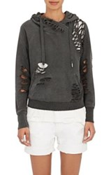 Nsf Women's Distressed French Terry Sweatshirt Black