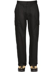 Loewe Eye Nature Canvas Cargo Pants Black