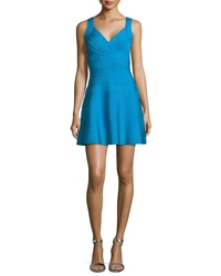 Herve Leger V Neck A Line Bandage Dress