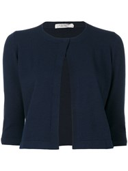 D.Exterior Cropped Sleeves Cardigan Women Polyester Wool Xl Blue