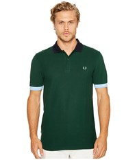Fred Perry Colour Block Pique Shirt Ivy Men's Short Sleeve Pullover Beige
