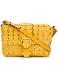 Red Valentino Qq0b0a61xiq G74 Giallo Leather Fur Exotic Yellow And Orange