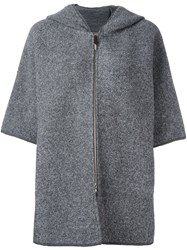 Fabiana Filippi Short Sleeve Coat Grey