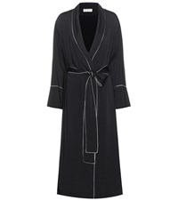 Balenciaga Satin Robe Black