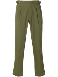 The Gigi Cropped Trousers Green