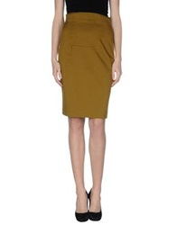 Schumacher Knee Length Skirts Military Green