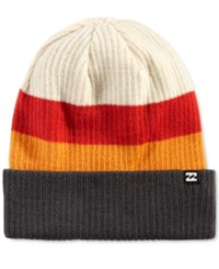 Billabong Men's Tribong Colorblocked Beanie Reo Red Or