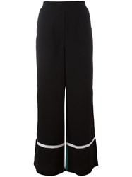 8Pm Contrast Flared Pants Black
