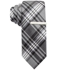 Alfani Red Stevie Plaid Skinny Tie Only At Macy's