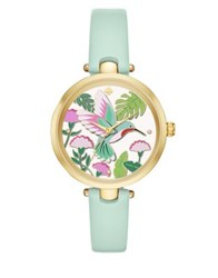 Kate Spade Critter Holland Leather Strap Watch Teal