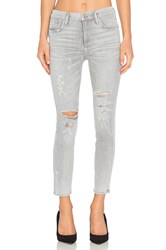 Agolde Sophie High Rise Crop Skinny Portland Destructed