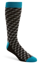 Ted Baker Men's London Houndstooth Socks Teal