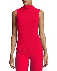Brandon Maxwell Cowl Neck Crepe Blouse Red