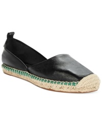 French Connection Umara Unlined Espadrille Flats Women's Shoes Black