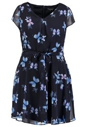 Dorothy Perkins Curve Billie Summer Dress Navy Blue