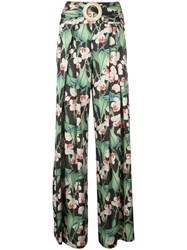 Patbo Floral Belted Wide Leg Trousers Multicolour