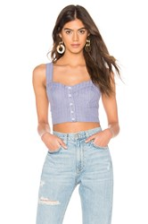 Free People Perfectly Stripe Crop Top Blue