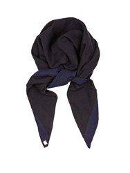 Casa Nata Cotton Headscarf Blue Black