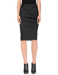 Frankie Morello Knee Length Skirts Black