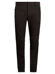Moncler Quilted Knee Slim Leg Ski Trousers Black