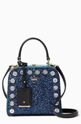 Kate Spade New York Skyline Way Violina Glitter Satchel Blue Navy Multi