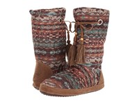 Mandf Western Rory Brown Rust Blue Boots Multi