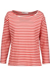 Kain Label Amelia Striped Stretch Modal Top Red