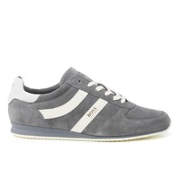 Boss Orange Men's Orland Runn Suede Trainers Medium Grey