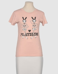Toxic Toy Short Sleeve T Shirts Pastel Pink