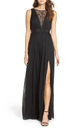 Adrianna Papell Women's Tulle And Lace Gown
