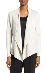 Eileen Fisher Women's Silk And Organic Cotton Angle Front Sweater Jacket