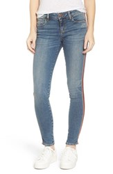 Sts Blue Women's Piper Athletic Stripe Skinny Jeans
