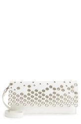 Sondra Roberts Grommet Convertible Crossbody Bag White