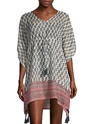 Beach Lunch Lounge Paisley Cover Up Dress Purple
