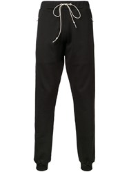 Mr. Completely Zipped Pockets Drawstring Sweatpants Black