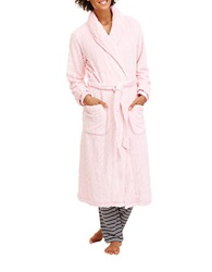 Nautica Textured Plush Robe Orchid Pink