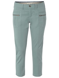White Stuff Moon Slim Fit Cropped Trousers Sea Kelp Green