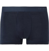 Falke Ergonomic Sport System Wool And Silk Blend Boxer Briefs Blue