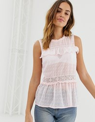 Naf Naf Romantic Iced Jersey Top In Pink