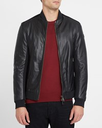 Armani Jeans Black Mesh Leather Jacket