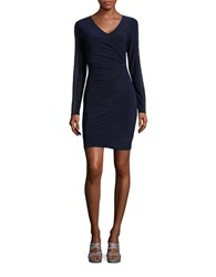 Guess Studded Ruched Dress Navy