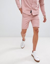 Native Youth Co Ord Pleated Shorts Pink