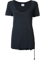 Ksubi Scoop Neck T Shirt Blue