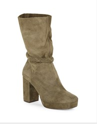 Free People Calf Length Platform Boot Green