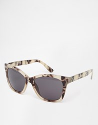 Warehouse Marbled Cat Eye Sunglasses Stone