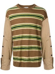 Wooyoungmi Striped Contrasting Sleeves Jumper 60