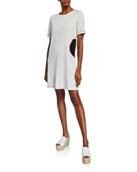 Lisa Todd Fair Game Short Sleeve T Shirt Dress W Dot And Whipstitching Mineral