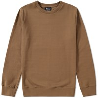 A.P.C. Bros Crew Sweat Brown