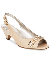 Karen Scott Analese Pumps Only At Macy's Women's Shoes Taupe Lizard