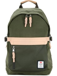 As2ov Front Zip Backpack Men Nylon One Size Green
